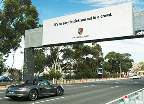 Porsche Car Recognition Billboard Campaign